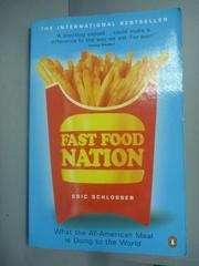 【書寶二手書T4/原文小說_KLX】Fast Food Nation_Eric Schlosser