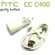 HTC CC C400 (白色)原廠車充線~(先創吊卡)適用:Incredible S/S710E/Desire S/S510E/WildFire S/A510E/Sensation/Z710E ~