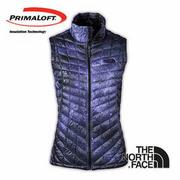 The North Face 女 PrimaLoft ? ThermoBall? 保暖背心 石榴紫印花 CUD6