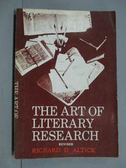【書寶二手書T8/原文小說_IOA】The Art of Literary Research