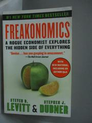 【書寶二手書T5/原文書_IQX】Freakonomics-A Rogue Economist Explores the