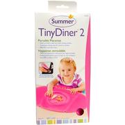 [iHerb] Summer Infant, Tiny Diner 2, Pink, Portable Placemat, 1 Placemat