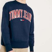 Tommy Hilfiger 男大學T Tommy Jeans深藍色