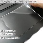 【Ezstick】ACER Aspire 7 A517-51G TOUCH PAD 觸控板 保護貼