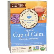 [iHerb] Traditional Medicinals, Herbal Teas, Organic Cup of Calm, Naturally Caffeine Free, 16 Wrapped Tea Bags, 0.85 oz (24 g)