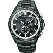 CITIZEN Eco-Drive 科技時尚達人IP黑電波男錶(AT3005-55E)