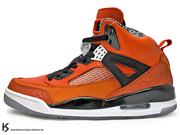 [27.5cm] 2012 超人氣 經典 HYBRID 合體鞋 NIKE JORDAN SPIZIKE NEW YORK KNICKS 橘黑 尼克 MARS BLACKMON EDITION 爆裂紋 AJ AIR 3 4 5 6 20 (315371-805) !