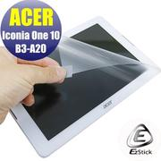 【Ezstick】ACER Iconia One 10 B3-A20 靜電式平板LCD液晶螢幕貼 (高清霧面)