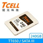TCELL 2.5吋SSD TT650 240G 固態硬碟