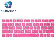 【SHOWHAN】Apple MacBook Pro Touch Bar 13吋英文鍵盤膜 桃紅