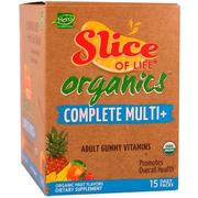 Hero Nutritional Products, Slice of Life Organics, Adult Gummy Vitamins, Complete Multi+, Organic Fruit Flavors, 15 Daily Packs, 2 Gummies Each