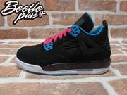 BEETLE PLUS NIKE AIR JORDAN 4 IV RETRO GS SOUTH BEACH 黑藍 桃紅 南灣 女鞋 487724-019