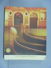 【書寶二手書T7/原文小說_GRO】A Thousand Days in Venice_Marlena de Blasi