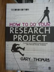 【書寶二手書T7/原文書_QDK】How to Do Your Research Project