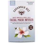 [iHerb] Savannah Bee Company Inc, Facial Mask Infuser, White Hibiscus & Royal Jelly, 1 Reusable Mask