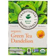 [iHerb] Traditional Medicinals, Green Teas, Organic Green Tea Dandelion, 16 Wrapped Tea Bags, 1.13 oz (32 g)