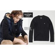 A&F真品Abercrombie&Fitch Icon Cable Knit Sweater螺紋羊毛衣灰藍