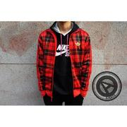 【A-KAY0】ADIDAS ADI-FB PLAID TRACK TOP 拉鍊外套 格紋 紅黑 【G76010】