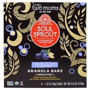 [iHerb] Two Moms in the Raw, Soul Sprout, Granola Bars, Bring On The Blueberry, 6 Bars, 1 oz (28 g) Each