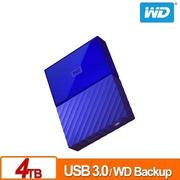 WD 2.5吋 4TB行動硬碟My Passport(藍)(WDBYFT0040BBL-WESN)