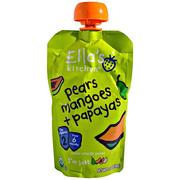 [iHerb] [iHerb] Ella's Kitchen Super Smooth Puree, Organic Pears Mangoes + Papayas, 3.5 oz (99 g)