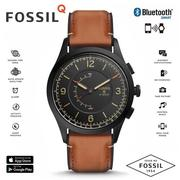 FOSSIL Q FTW1206 指針式智慧錶/咖啡皮革 ios+android兼容/42mm