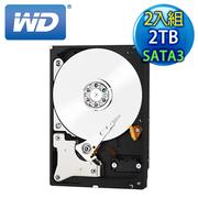 《2入組》WD威騰 Red 2TB 3.5吋 SATA3紅標硬碟(WD20EFRX)
