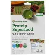 [iHerb] Amazing Grass, Protein Superfood Variety Pack, Two Flavors, Chocolate Peanut Butter & Pure Vanilla