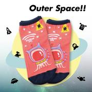 【Outer Space】外星人短襪(3入)