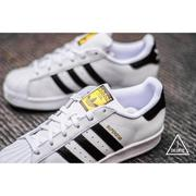 ISNEAKERS adidas superstar 黑白 金標 女段 C77124  大童鞋 C77154
