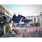 Adidas nmd r1 pk tri color 法蘭西   情侶款