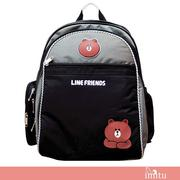 imitu【LINE FRIENDS】MIT 成長型護脊後背書包(熊大_LI-5333)