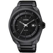 CITIZEN Eco-Drive 時尚紳士風腕錶-黑/42mm AW1015-53E