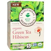 [iHerb] Traditional Medicinals, Green Teas, Organic Green Tea Hibiscus, 16 Wrapped Tea Bags, .99 oz (28 g)