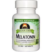 [iHerb] Source Naturals, Vegan True, Melatonin, Orange, 2.5 mg, 60 Tablets