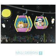 【MILU DESIGN】+PostCard>> 星夜貓纜明信片 ★MAOKONG NIGHT★