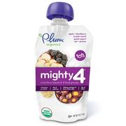 [iHerb] Plum Organics, Tots, Mighty 4, Nutritious Blend of 4 Food Groups, Apple, Blackberry, Purple Carrot, Greek Yogurt, Oat & Quinoa, 4 oz (113 g)