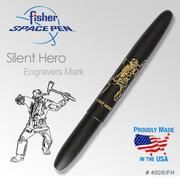 Fisher Silent Hero Matte Black Bullet Space Pen 筆_沉默的英雄#400B/FH
