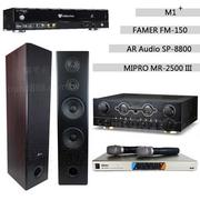 Golden Voice 電腦伴唱機 金嗓公司出品 CPX-900 M1++FAMER FM-150A+MIPRO MR-2500 III+AR Audio SP-8800