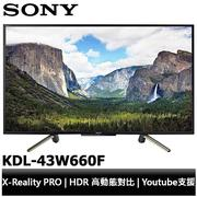 SONY 索尼 43吋 HDR 液晶電視 KDL-43W660F