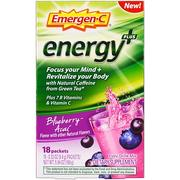 [iHerb] [iHerb] Emergen-C Energy Focus, Blueberry Acai, 18 Packets, 0.33 oz (9.4 g) Each