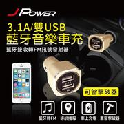【J-POWER】USB車充+FM發射器