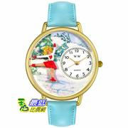 [美國直購 USAShop] Whimsical 手錶 Unisex Ice Skating Gold Watch G0810024 _mr $2087