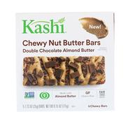 [iHerb] [iHerb] Kashi Chewy Nut Butter Bars, Double Chocolate Almond Butter, 5 Chewy Bars, 1.23 oz (35 g) Each