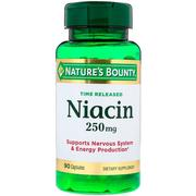 [iHerb] Nature's Bounty, Time Released Niacin, 250 mg, 90 Capsules