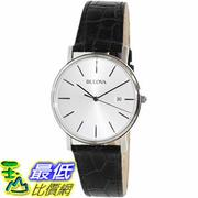 [105美國直購] Bulova Men's 男士手錶 Dress 96B104 Black Leather Quartz Watch