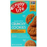 [iHerb] Enjoy Life Foods, Handcrafted Crunchy Cookies, Vanilla Honey Graham, 6.3 oz (179 g)