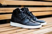 ISNEAKERS NIKE AIR JORDAN 1 RETRO HIGH OG BG 黑白 女鞋 (9.3折)