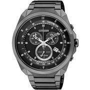 CITIZEN Eco-Drive 挑戰極限 光動能計時腕錶(IP黑-AT2155-58E)