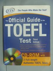 【書寶二手書T1/語言學習_XDK】The Official Guide to the New Toefl Test_Educational Testing_附光碟